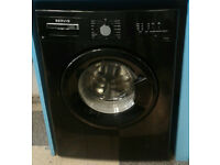 a706 black servis 7kg 1200spin A* rated washing machine comes with warranty can be delivered