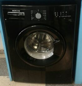 g706 black servis 7kg 1200spin washing machine comes with warranty can be delivered or collected