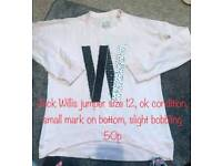 JACK WILLIS JUMPER SIZE 12