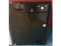 y488 black indesit 8kg condenser dryer comes with warranty can be delivered or collected