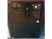 m488 black indesit 8kg condenser dryer comes with warranty can be delivered or collected
