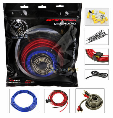 10 Gauge 800 Watt Amplifier Amp Wiring Kit BGE10RP EPAK10R Car Audio AWG 10 Gauge Amplifier Kit