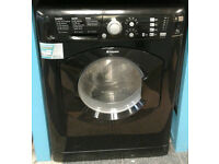 X192 black hotpoint 7kg 1400spin washer dryer comes with warranty can be delivered or collected