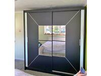 Amazing Sale on Elegant Style Nicole Sliding Door Wardrobe Fast Delivery With 1 Year Warranty