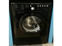 G287 black indesit 8kg 1200 spin washing machine with warranty can be delivered or collected