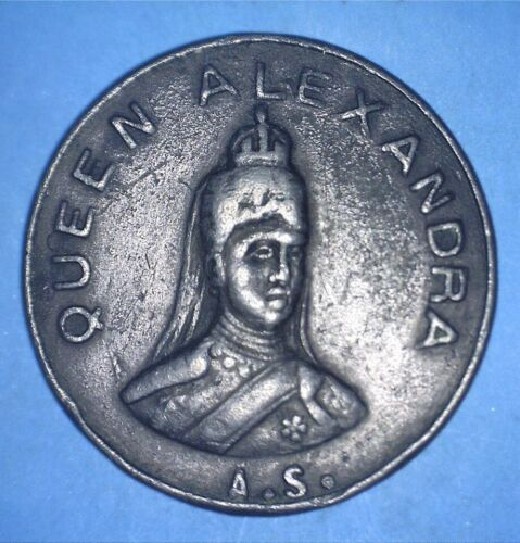EDWARD VII / QUEEN ALEXANDRA HISTORICAL SIGNED MEDAL MADE IN FRANCE - *75063155