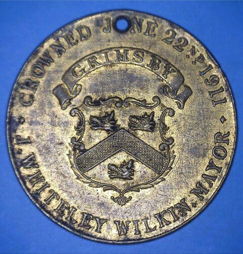 1911 BOROUGH OF GRIMSBY CORONATION CELEBRATION OF GEORGE V AND MARY - *72881299