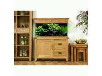 Aqua Oak 110cm 'Doors & Drawers' Aquarium and Cabinet with sump system