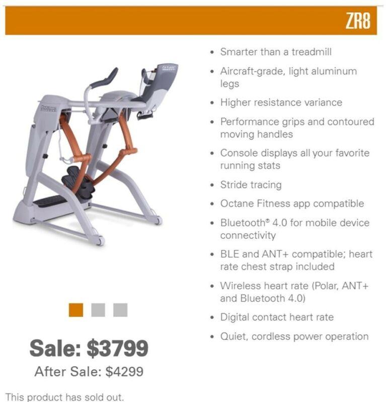 Octane Fitness ZR8 Zero Runner. Excellent Condition.