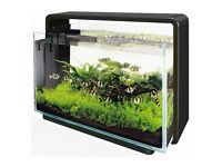 Superfish home 60 black aquarium fish tank