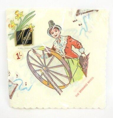 - VTG Paper Napkins Great Britain John Dickinson Spinning Wheel Cardiff Castle