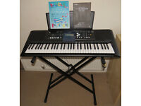 Yamaha PSR-E333 Digital Touch Sensitive Keyboard with psu, stand and manual