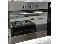 b196 stainless steel baumatic single electric oven comes with warranty can be delivered or collected