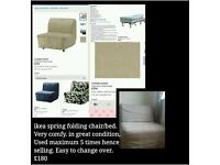 Ikea bed setee pull out spring action