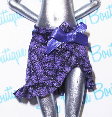 MONSTER HIGH DANCE CLASS ROBECCA STEAM DOLL OUTFIT REPLACEMENT PURPLE WRAP SKIRT for sale  Shipping to India