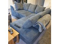 CHEAPEST OFFER😍DYLAN JUMBO CORDED😍FABRIC LEFT or RIGHT ARM CORNER SOFA SUITE / 3+2 SEATER SOFA SET