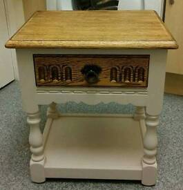 Solid oak side unit with draw