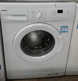 *056 White Beko 8kg 1400spin A* Rated Washing Machine Comes With 6 Months Warranty, Can Be Delivered