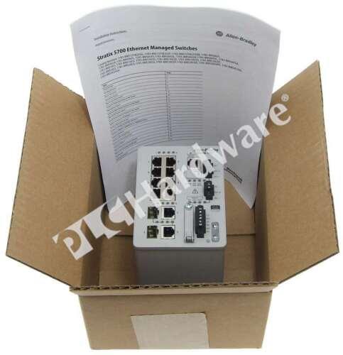 New Allen Bradley 1783-BMS10CGN /A Stratix 5700 Ethernet Switch 10-Port w/2-SFP
