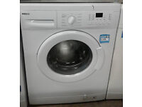 *056 White Beko 8kg 1400Spin Washing Machine Comes With Warranty & Can Be Delivered Or Collected