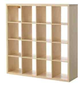 Ikea KALLAX 4x4 bookshelves, birch effect, excellent condition Mascot Rockdale Area Preview