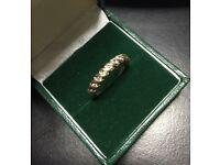 Beautiful design 9k DIA ring
