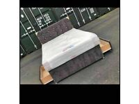 🔵💖🔴DISCOUNT OFFER🔵💖🔴CRUSHED VELVET DIVAN BED BASE SINGLE/DOUBLE/KING SIZE DIFF MATTRESSES