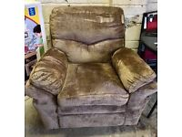 Arm chair New EX Display Brown/Taupe