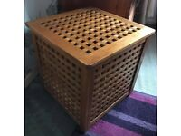 SOLID PINE LATTICE STORAGE BOX
