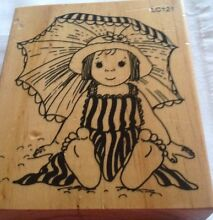 Cute girl wood mounted stamp Doveton Casey Area Preview