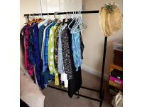 Ikea black metal clothes rail