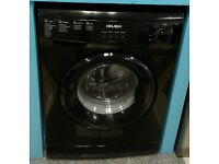 d073 black bush 6kg 1200spin washing machine comes with warranty can be delivered or collected