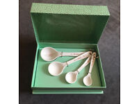 Portmeirion Sophie Conran White Measuring Spoons, Set of 4 - Brand New £7 Collection From Epsom