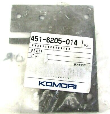 Genuine Oem Komori Plate 451-6205-014 Offset Printing Printer Replacement Nos