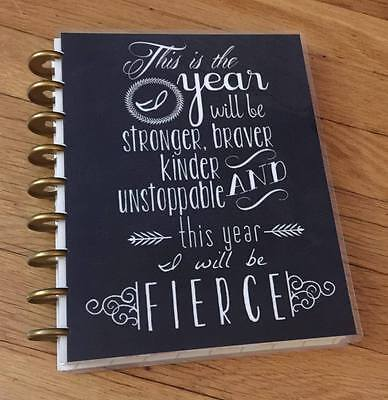 Fierce New Year Quote Front/Back Cover Set for use w/ HAPPY Planner *Create 365*