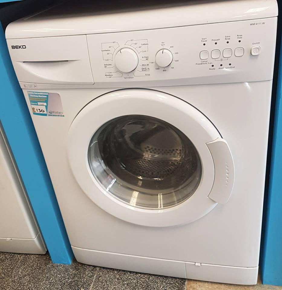 H688 white beko 6kg 1100spin washing machine comes with warranty can be delivered or collected
