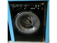 a066 black hotpoint 7kg washing machine comes with warranty can be delivered or collected