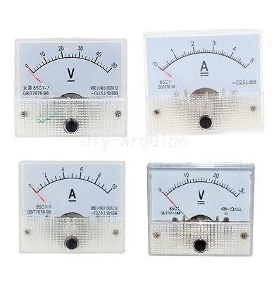 85C1 Analog Panel AMP Meter Voltmeter Gauge GB/T7676-98 DC 0-30V/50V 0-5A/10A Dc Amp Meter