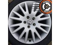 "17"" Brand New Genuine alloy spare wheel VW Audi Seat Skoda unused tyre."