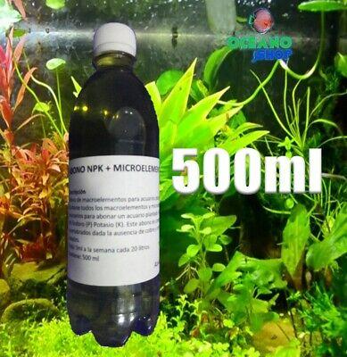 Abono completo liquido npk + micros 500 ml acuario plantado microelementos