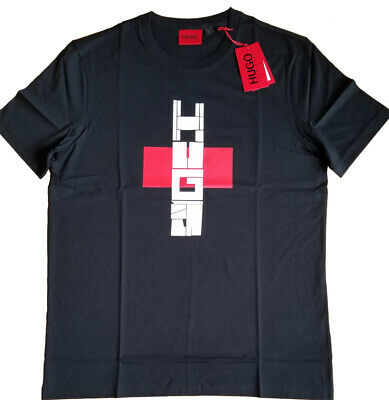 HUGO BOSS Regular Fit * Logo Graphic Tee T-Shirt * Black Size M * NEW with TAGS