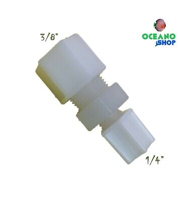 Conector lineal igual tubo 1/4