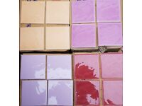 10x10 Ceramic Wall Tiles Large Quantity 4 Colours To Choose From