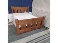 Rustic Slat Bed Double