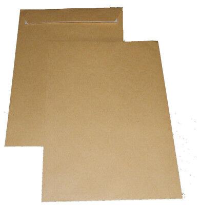500 Briefumschläge 162 mm x 229 mm C5 braun Haftklebend Versandtaschen