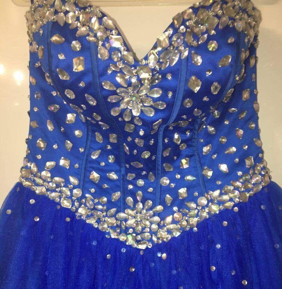 Royal blue prom dress (worn once)