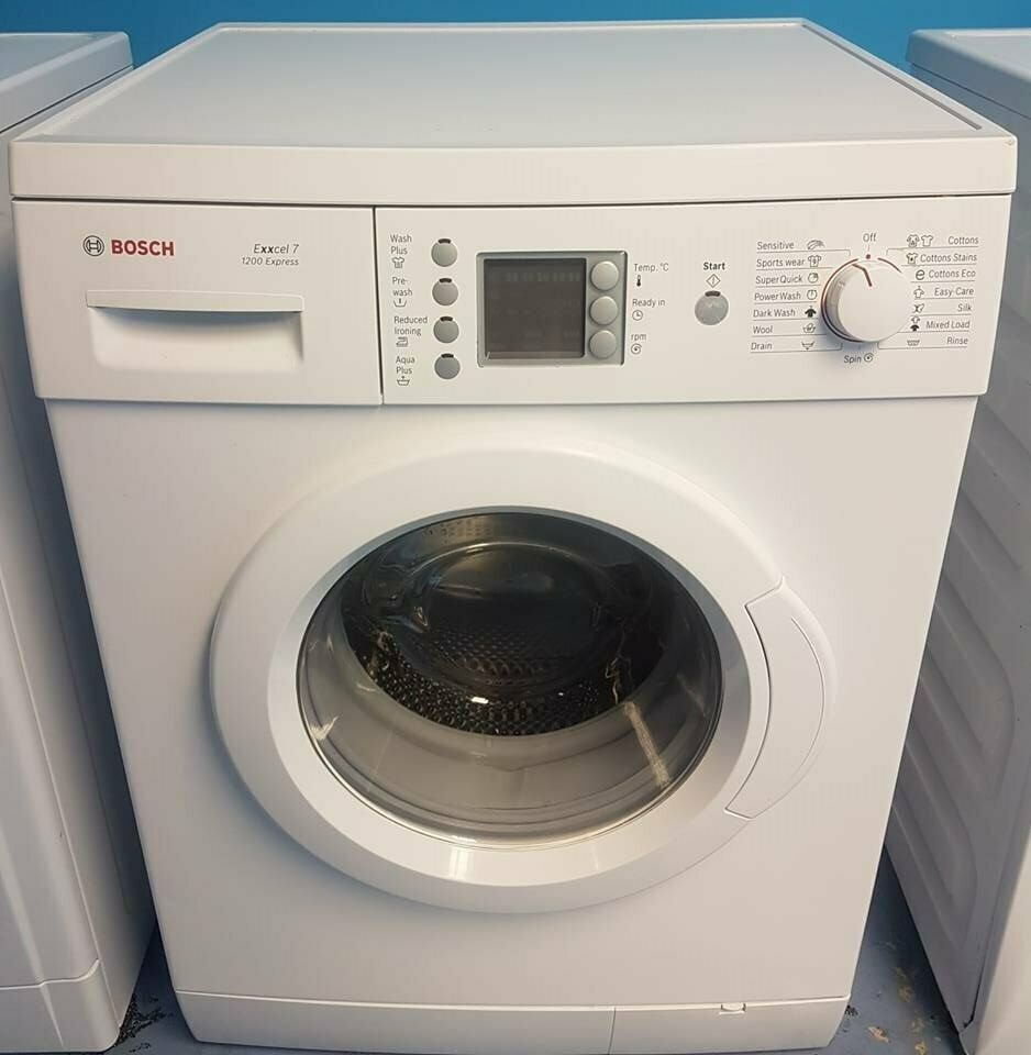 white bosch 7kg 1200spin washing machine comes with warranty can be  delivered or collected vd678 | in Kirkby, Merseyside | Gumtree