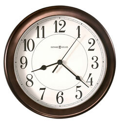HOWARD MILLER 8.5 WALL CLOCK VIRGO 625-381 IN OIL RUBBED BRONZE FINISH 625381