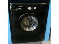 a708 black beko 6kg washing machine comes with warranty can be delivered or collected