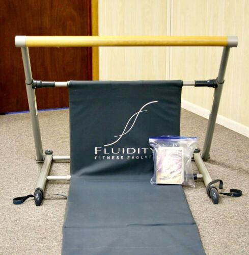 Fluidity Fitness Evolved Barre System Exercise Bar Dance Ballet Pilates 3 DVD